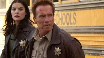 "Arnold Schwarzenegger and Jaimie Alexander in a scene from ""The Last Stand""."