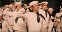 Channing Tatum in a sailor suit, channeling Gene Kelly