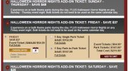 Halloween Horror Nights VIP tickets