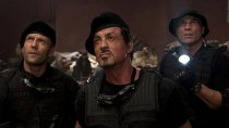 "Jason Statham, Sylvester Stallone and Randy Couture in ""The Expendables""."