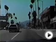 Driving in Los Angeles 1985 Hollywood Sunset Blvd