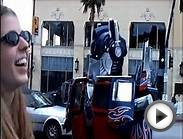 OPTIMUS PRIME GETS THE JOB DONE ON HOLLYWOOD BLVD