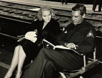 With Cary Grant on the set of North by Northwest.
